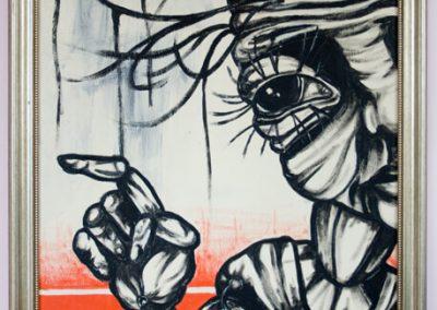 2004 MIDAGI - SOMETHING, akrüül puitkiudplaadil - acrylic on hardboard, 81,5 x 59 cm, Kaia Otstak