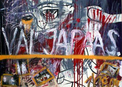 2004 VÄLJAPÄÄS - THE EXIT, akrüül puitkiudplaadil - acrylic on hardboard, 88,5 x 110 cm, Kaia Otstak