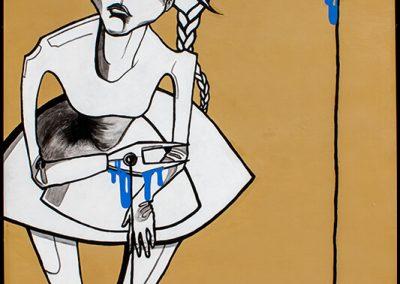 2005 EI OSKA MÄNGIDA. EI OSKA UNISTADA - THE INABILITY TO PLAY. THE INABILITY TO DREAM, akrüül puitkiudplaadil - acrylic on hardboard, 88,5 x 108 cm, Kaia Otstak