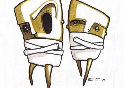2005 INSANE illustration, tint, pliiats - ink, pencil, A4, Kaia Otstak