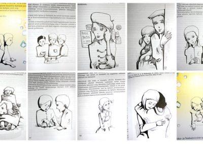 2006 KIUSAMIKÄITUMISE MITU TAHKU illustrations, tint - ink, Kaia Otstak