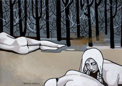 2007 PESEVAD NAISED - THE WASHING WOMEN, akrüül lõuendil - acrylic on canvas, 70 x 100 cm, Kaia Otstak