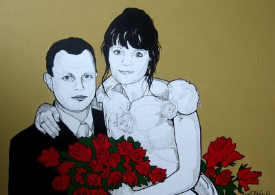 2007 PULMAD - THE WEDDING, akrüül lõuendil - acrylic on canvas, 81x65 cm, Kaia Otstak