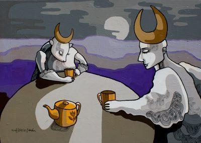 2007 SALAVEIN - THE SECRET WINE, akrüül lõuendil - acrylic on canvas, 70 x 100 cm, Kaia Otstak