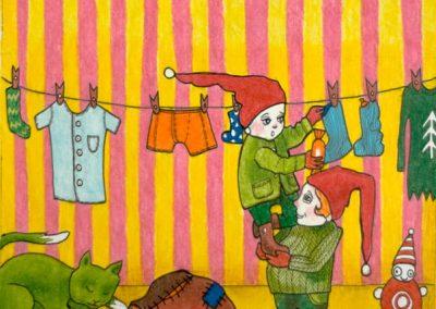 2007 TALI I - WINTER I, tint, pliiats - ink, pencil, A4, illustration for the magazine Mesimumm, Kaia Otstak