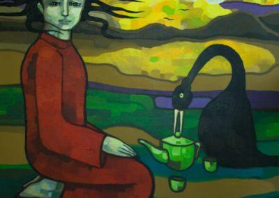 2008 02 NIMETA - UNTITLED, akrüül lõuendil - acrylic on canvas, Kaia Otstak