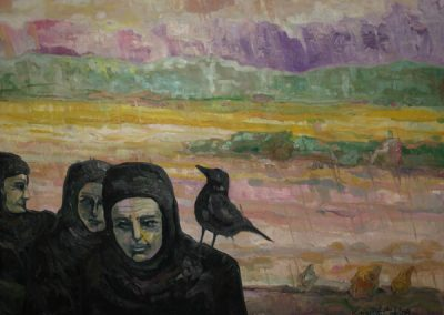 2008 04 NIMETA - UNTITLED, õli lõuendil oil on canvas, 81 x 100 cm, Kaia Otstak