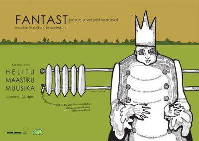 2008 FANTAST I poster design and illustration, segatehnika - mixed technique, Kaia Otstak