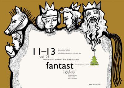 2008 FANTAST III poster design and illustration, segatehnika - mixed technique, Kaia Otstak