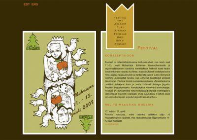 2008 FANTAST web design and illustration, segatehnika - mixed technique, Kaia Otstak