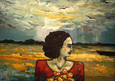 2009 03 NIMETA - UNTITLED, õli lõuendil - oil on canvas, 80 x 100 cm, Kaia Otstak