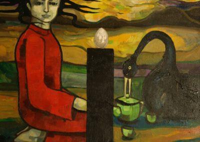 2009 04 NIMETA - UNTITLED, akrüül lõuendil acrylic on canvas, Kaia Otstak
