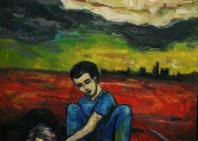 2009 05 NIMETA - UNTITLED, õli lõuendil - oil on canvas, 80 x 100 cm, Kaia Otstak