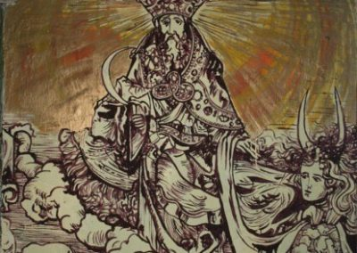 2009 NIMETA - UNTITLED, seinamaal - wall painting at Metropol Gallery m3, Kaia Otstak