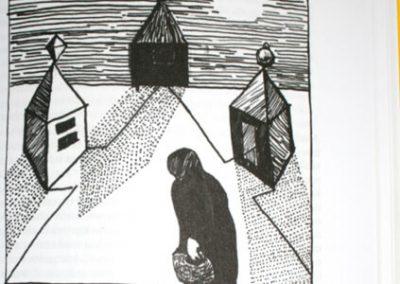 2010 AK3 OI, tušš - indian ink, A6, illustration for the journal Akadeemia, Kaia Otstak
