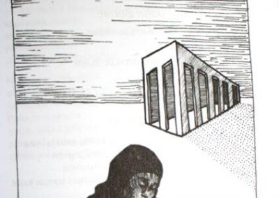 2010 AK5 OI, tušš - indian ink, A6, illustration for the journal Akadeemia, Kaia Otstak