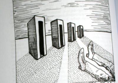 2010 AK6 OI, tušš - indian ink, A6, illustration for the journal Akadeemia, Kaia Otstak