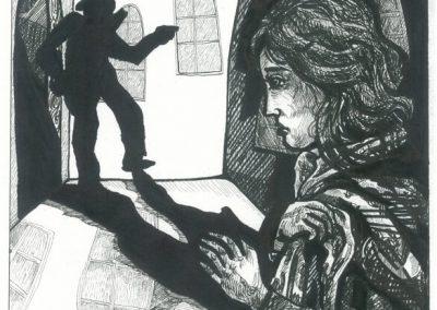 2010 Nekromanteion illustration, LUGU KADUNUD LAPSEST, tint - ink, A3, Kaia Otstak