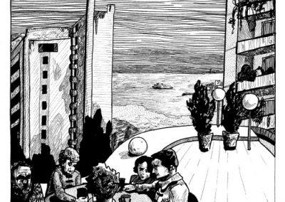 2010 Nekromanteion illustration, NEKROMANTEION, tint - ink, A3, Kaia Otstak