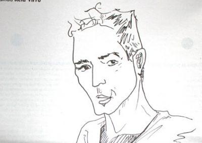 2011 DANZUMEES, tint - ink, A6, illustration for the magazine Müürileht, Kaia Otstak