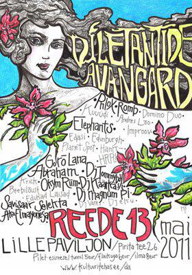 2011 DILETANTIDE AVANGARD poster design and illustration, tint, pliiats - ink, pencil, A3, Kaia Otstak
