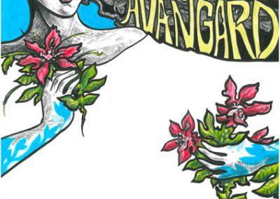 2011 DILETANTIDE AVANGARD poster illustration, tint, pliiats - ink, pencil, A3, Kaia Otstak