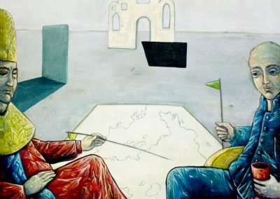 2011 Rahuaeg - Peace Time, KOOSOLEK - MEETING, akrüül lõuendil - acrylic on canvas, 82 x 90 cm, Kaia Otstak