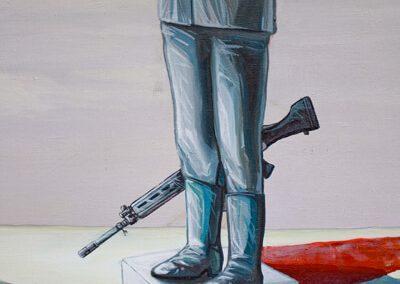 2011 Rahuaeg - Peace Time, PIIRIMAA NR. 1 detail 1 - detail 1 of BORDERLAND NR. 1, akrüül lõuendil - acrylic on canvas, Kaia Otstak