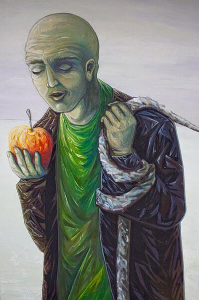 2011 Rahuaeg - Peace Time, PIIRIMAA NR. 1 detail 2 - detail 2 of BORDERLAND NR. 1, akrüül lõuendil - acrylic on canvas, Kaia Otstak