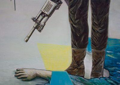 2011 Rahuaeg - Peace Time, PIIRIMAA NR. 2 detail 2 - detail 2 of BORDERLAND NR. 2, akrüül lõuendil - acrylic on canvas, Kaia Otstak