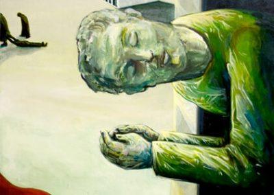 2011 Rahuaeg - Peace Time, PIIRIMAA NR. 3 - BORDERLAND NR. 3, akrüül lõuendil - acrylic on canvas, ca 90 x 70 cm, Kaia Otstak