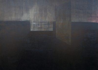 2011 Rahuaeg - Peace Time, PIIRIMAA NR. 6 - BORDERLAND NR. 6, õli lõuendil - oil on canvas, 150 X 180 cm, Kaia Otstak