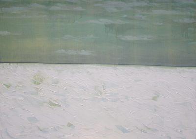 2011 Rahuaeg - Peace Time, PIIRIMAA NR. 8 - BORDERLAND NR. 8, akrüül lõuendil - acrylic on canvas, 114 x 134 cm, Kaia Otstak