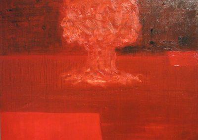 2011 Rahuaeg - Peace Time, TUUMASEEN - PÜHA GRAAL - NUCLEAR MUSHROOM - HOLY GRALE, õli lõuendil - oil on canvas, 63 x 70 cm, Kaia Otstak