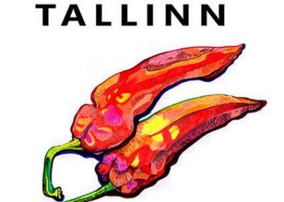 2013 BALKAN BEATS TALLINN vol. 2 poster design and illustration, segatehnika - mixed technique, Kaia Otstak