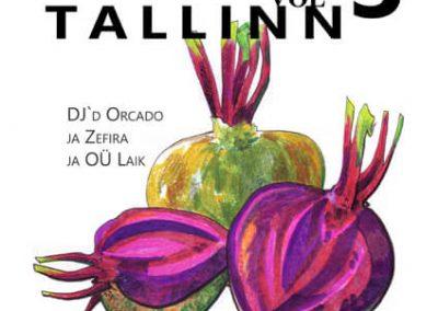 2013 BALKAN BEATS TALLINN vol. 3 poster design and illustration, segatehnika - mixed technique, Kaia Otstak