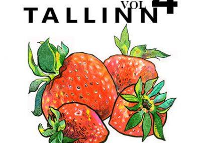 2013 BALKAN BEATS TALLINN vol. 4 poster design and illustration, segatehnika - mixed technique, Kaia Otstak