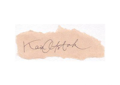 2013 TÄHTAJAD ON KOHAL, KUID MA OLEN ÄRA - DEADLINES ARE HERE, BUT I_M AWAY, tint pabril - ink on paper, 5 X 12 cm, Kaia Otstak