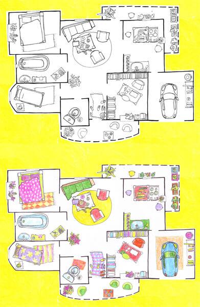 2013 V-talk webpage, MAJAPLAAN - THE HOUSEPLAN, tint, pliiats - ink, pencil, A4, Kaia Otstak