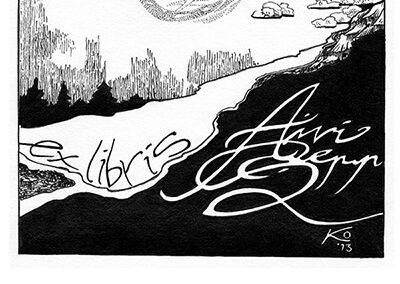 2013 ex libris to AIVI, tint - ink, A4, Kaia Otstak