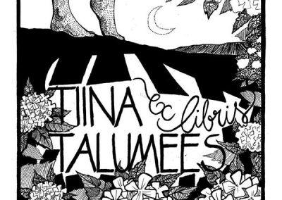 2013 ex libris to TIINA, tint - ink, A4, Kaia Otstak