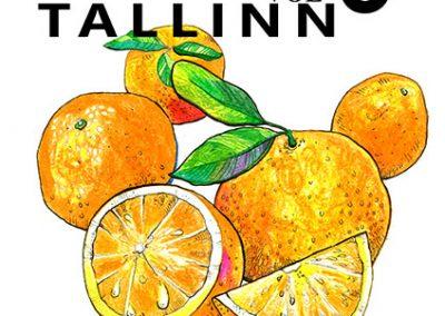 2014 BALKAN BEATS TALLINN vol. 6 poster design and illustration, segatehnika - mixed technique, Kaia Otstak