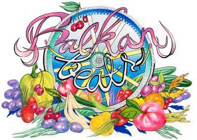 2014 BALKAN BEATS, tint, pliiats - ink, pencil, A4, illustration for Balkan Beats Tallinn logo, Kaia Otstak
