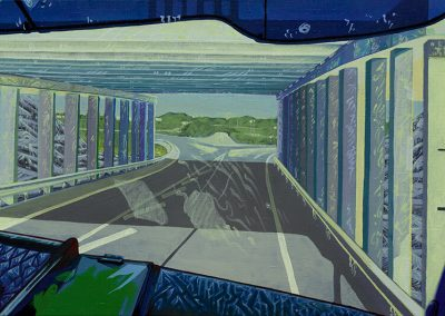 2014 Kilomeetrid - Kilometres, EST, akrüül lõuendil - acrylic on canvas, 60 x 90 cm, Kaia Otstak