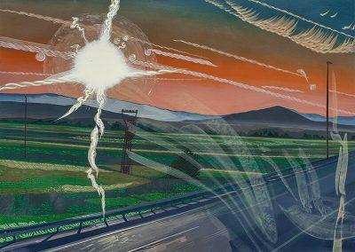2014 Kilomeetrid - Kilometres, RS, akrüül lõuendil - acrylic on canvas, 80,5 x 110,5 cm, Kaia Otstak