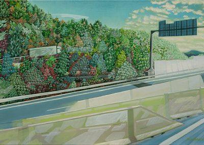 2014 Kilomeetrid - Kilometres, SK, akrüül lõuendil - acrylic on canvas, 60 x 90 cm, Kaia Otstak