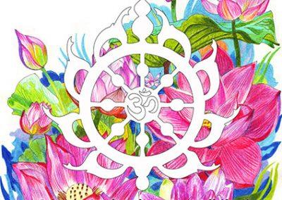 2014 RAHU VALEM - THE PEACE FORMULA, poster for ISCKON, Kaia Otstak