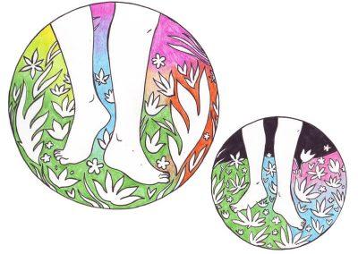 2015 V-talk webpage, KÜLALINE - THE VISITOR, tint, pliiats - ink, pencil, A4, Kaia Otstak