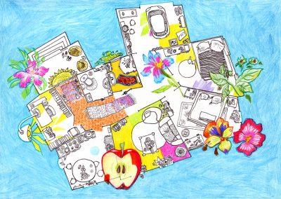 2015 V-talk webpage, MAJAPLAAN - THE HOUSEPLAN, tint, pliiats - ink, pencil, A4, Kaia Otstak