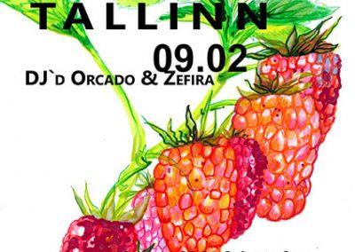 2017 BALKAN BEATS TALLINN vol. 8 poster design and illustration, segatehnika - mixed technique, Kaia Otstak